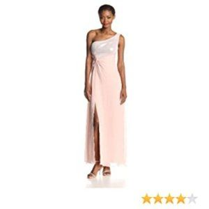 Adrianna Papell Hailey One Shoulder Gown Dress 14